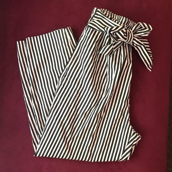 1679483a Zara Pants   Striped Paper Bag   Poshmark